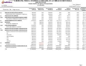 B 2.7 Registra La Etapa Del Presupuesto De Ingreso Estimado