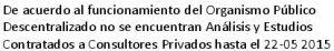 Analisis, Estudios De Consultores Privados