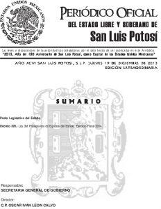 01 Ley Del Presupuesto De Egresos Del Estado 2014