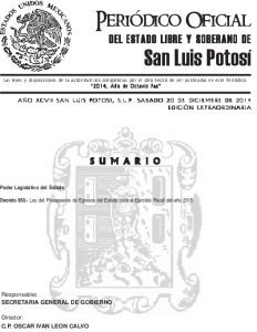 03 Ley De Presupuesto De Egresos Del Estado 2015