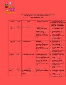 10 AGENDA OFICIAL JUL - 16