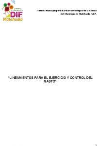 05 Lineamientos Para El Ejercicio Y Control Del Gasto  Smdif (2015-2018)
