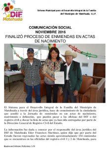 08 Comunicación Social - Noviembre  2016