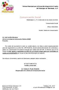 04 Contenido Y Gasto En Comunicación - Actualizado A Septiembre 2016